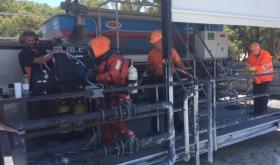 Execução de  operação de manutenção e substituição de difusores de ar por micro-bolhas em ETAR.