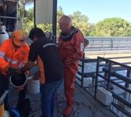 Execução de  operação de manutenção e substituição de difusores de ar por microbolhas em ETAR, com recurso a Mergulho Profissional.