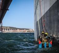 Inspeção ao Pilar P3 e P4 da Ponte 25 de Abril