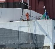 Inspecção Pilares P4 e P4 Ponte 25 de Abril